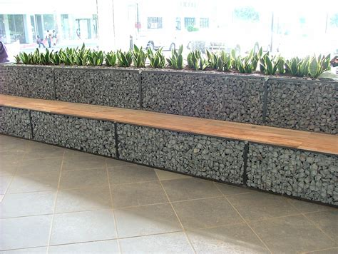 gabion bench cubedec gabion planter and bench combo badec bros