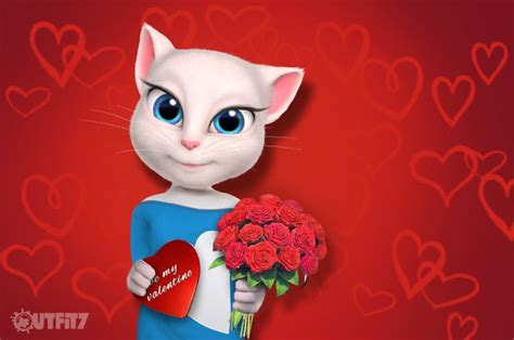 Allesandra Ambrosia Wishes You A Happy V Day by 8 Best My Talking Angela Images On Email