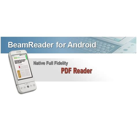 pdf reader for android free beamreader pdf viewer now available for android