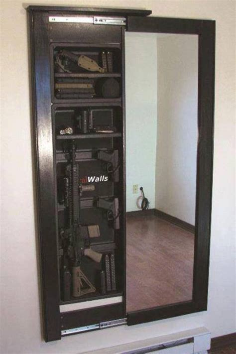 In Wall Gun Cabinet by Gun Safe Wall Mirror It Diy