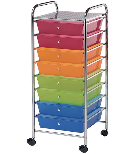 8 Drawer Rolling Organizer by Storage Cart With 8 Drawers Multi 16 25 X14 5 X39 75 Jo