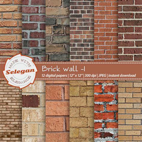 Brick Craft Paper - brick texture scrapbook paper quot brick wall 1 quot digital