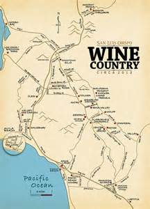 Winery Map Slo Wine Country San Luis Obispo Wine Tasting Map