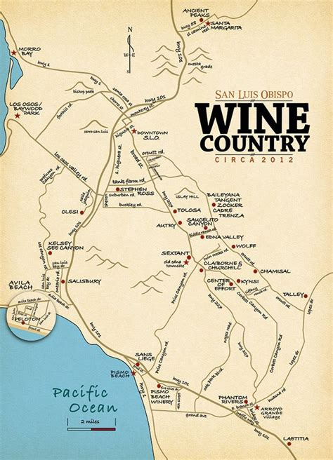 slo wine country san luis obispo wine tasting map