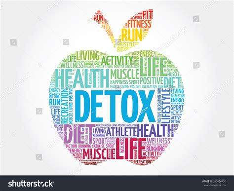 Similar Words For Detox by Colorful Detox Apple Word Cloud Concept Stock Illustration