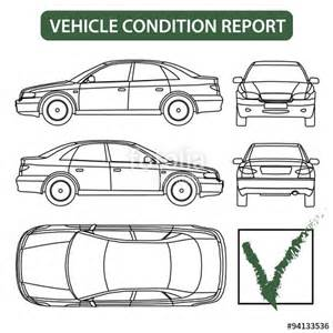 quot vehicle condition report car checklist auto damage