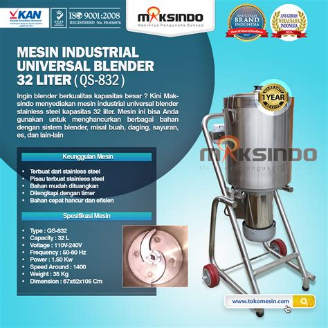 Mesin Mixer Kapasitas Besar jual mesin blender kapasitas besar 32 liter stainless