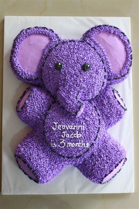 Purple Elephant Baby Shower Theme by Purple Elephant In Buttercream Icing Animal