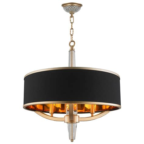 Black 3 Light Chandelier Worldwide Lighting Gatsby 3 Light Matte Gold Chandelier With Black Drum Shade Cp139mg21 The
