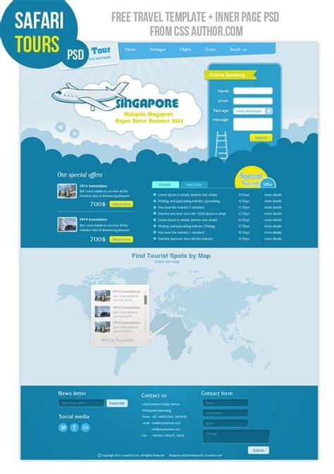 pinwall modern website template psd freebie no 103 31 best travel resort images on pinterest design web