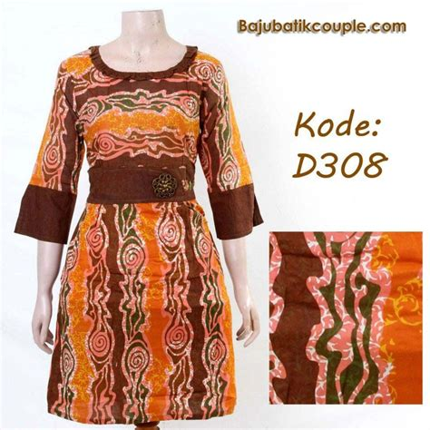 Hem Batik Fashion Burung Lombert baju dress batik modern model hiasan bross syahrina