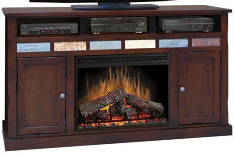 62 quot cherry entertainment unit fireplace