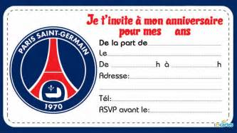 Invitation Anniversaire Clubs De Foot 123 Cartes