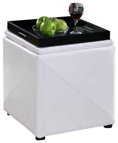 White Storage Ottoman Cube Image White Storage Cube Ottoman