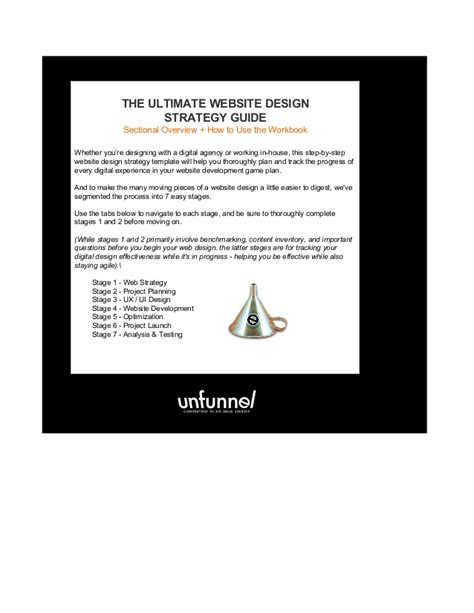 Website Design Strategy Template The Ultimate Website Design Strategy Template