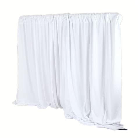 white pipe and drape pipe drape 10 ft high white per linear foot
