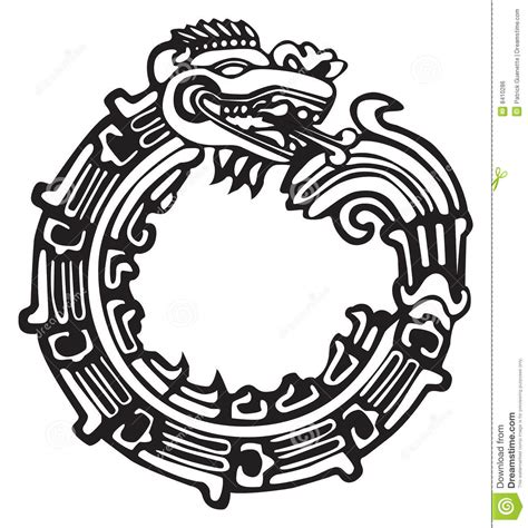 aztec maya dragon great for tatto art stock vector