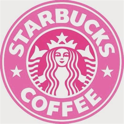 pink coffee   home accessory pink logo like starbucks