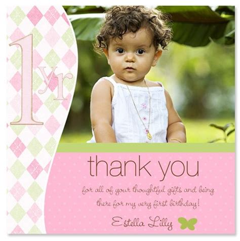 Thank You 1st Birthday Cards 1st Birthday Thank You Quotes Quotesgram