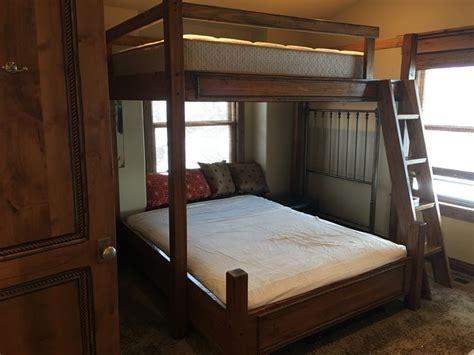 custom bunk beds romans rope full  twin  queen bunk