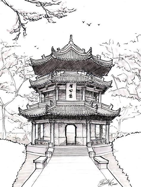 japanese temple coloring page pagoda drawing chinese pagoda by asuka47 on deviantart