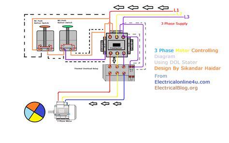 circuit diagram of direct starter wiring