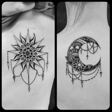 sun and moon mandala tattoo sun moon tattoos tattoos tattoos