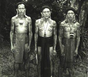 tato panglima dayak tato dayak tato asli indonesia yang terkenal hingga