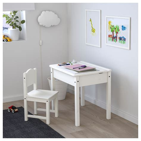 Sundvik Children S Desk White 58x45 Cm Ikea White Children Desk