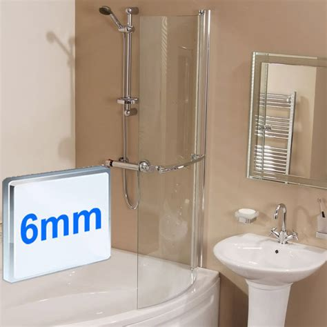 micro 1675 shower bath suite with eco shower rail kit