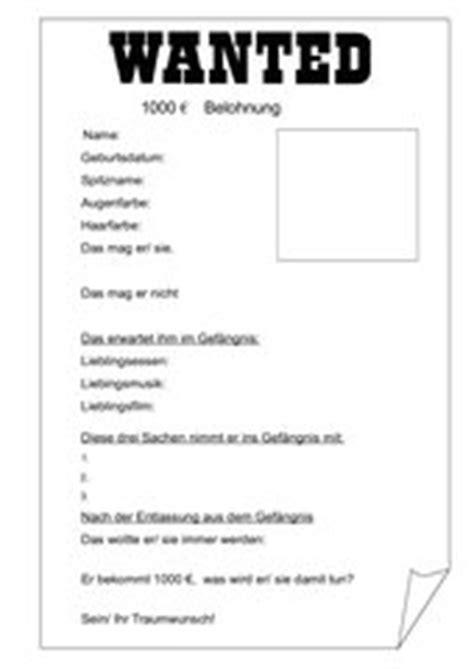 Word Vorlage Wanted Steckbrief 4teachers Lehrproben Unterrichtsentw 252 Rfe Und Unterrichtsmaterial F 252 R Lehrer Und Referendare