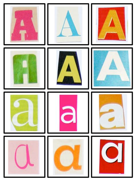 printable magazine letters for literacy station word work images clipart panda free clipart images