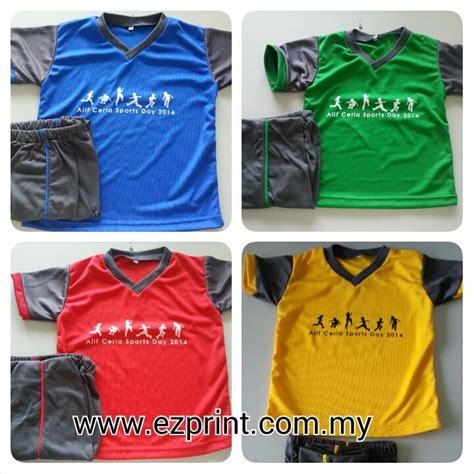 Tempahan Baju Sukan Sekolah t shirt sukan sport day alif ceria putrajaya ezprint