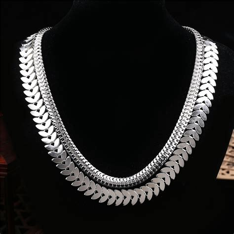 wedding snake chain necklace for 18k