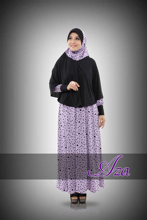 Grosir Busana Muslim syar i raneea purple baju muslim gamis modern