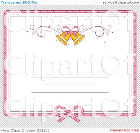 free printable wedding invitation clip art 7 best images of christmas bells border clip art free