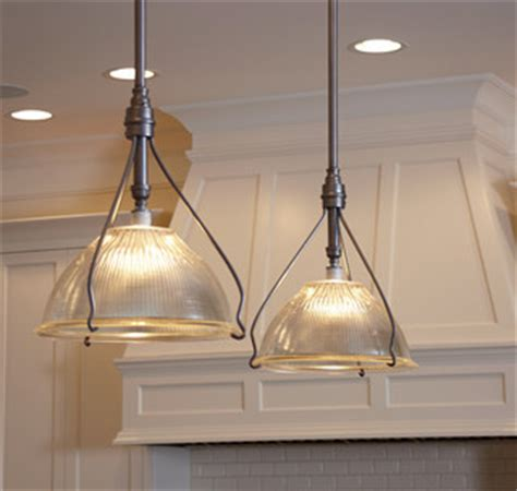 traditional kitchen with prep island and pendant lighting vintage holophane pendants traditional kitchen island