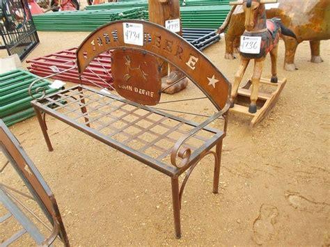 john deere bench 56 quot john deere metal bench j m wood auction company inc