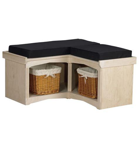 corner tv bench 36 inch corner cubby bench cub2 simply woods