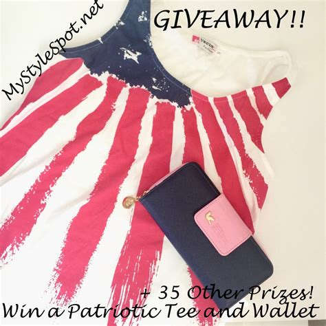Giveaway Rafflecopter - giveaway win a chic patriotic tank top and wallet over 35 other prizes mystylespot