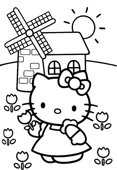 hello kitty coloring pages with crayons hello kitty coloring pages coloringpages1001 com