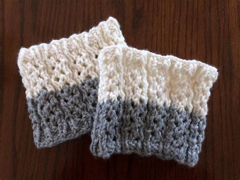 knitted boot cuffs pattern pebbles reversible boot cuffs by nonapearl craftsy