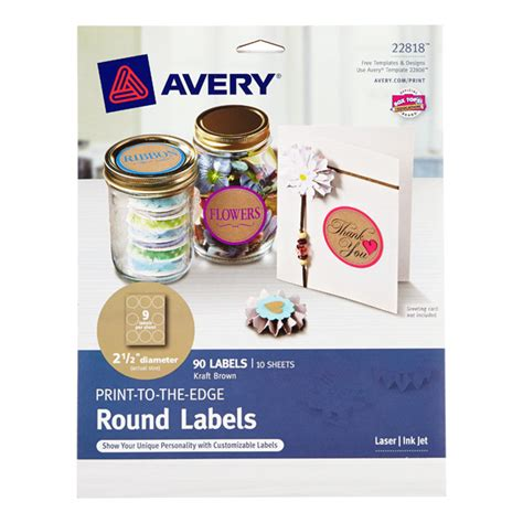 printable kraft labels kraft avery printable label sheets the container store