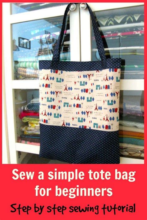 beginner sewing pattern tote bag sew a tote bag sewing pattern for beginners sewing