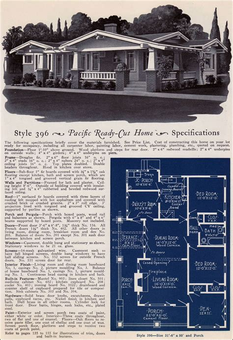aladdin house plans catalogue no 14 home design home pacific ready cut kit homes 1925 craftsman style