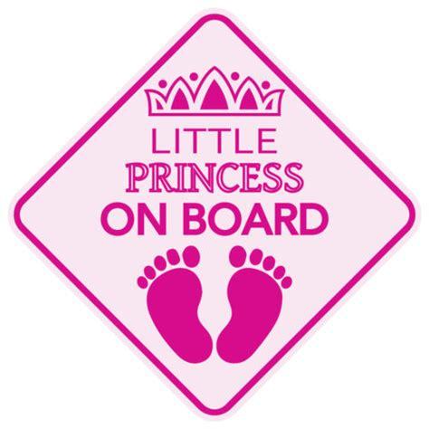 Sticker Princess On Board Tiara stickers gt princess on board sticker buy from e shop