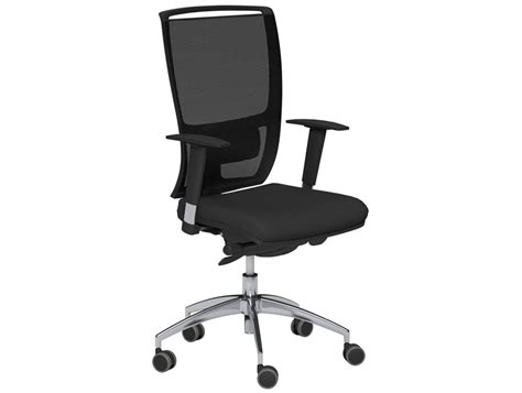 Oz Series Mesh Back Swivel Chair With Variable Arms In Black Swivel Chair With Backrest