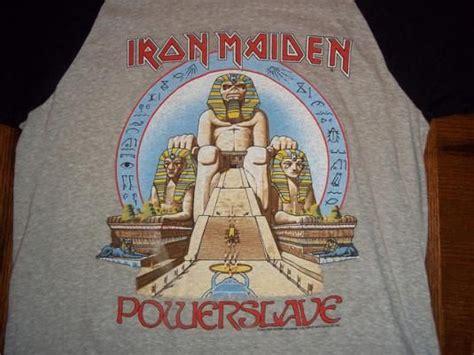 Baju Vintage Iron Maiden vintage 1985 iron maiden power concert t shirt vintage shirts