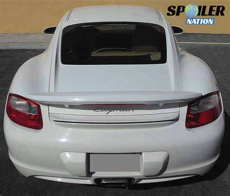 porsche trunk 2005 2012 porsche cayman aero rear wing spoiler w light