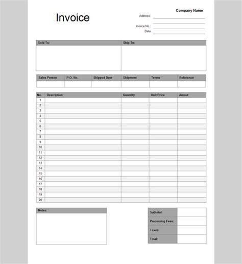 free invoice template google docs invoice templates google docs